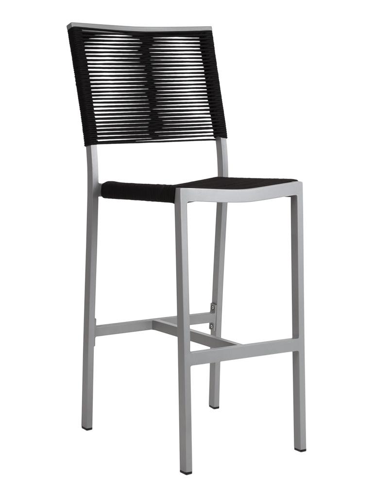TAHITI ROPE ARMLESS BAR STOOL-BLACK RC2046-B $249.00 CLICK FOR SPEC SHEET