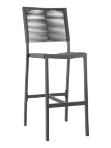 TAHITI ROPE ARMLESS BAR STOOL-CHARCAOL RC2046-C $219.00 CLICK FOR SPEC SHEET
