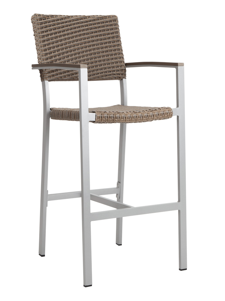 TAHITI WEAVE BAR STOOL WITH ARMS-SAND RC2047-S $219.00 CLICK FOR SPEC SHEET