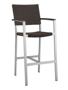 TAHITI WEAVE BAR STOOL WITH ARMS-ESPRESSO RC2047-ESP $219.00 CLICK FOR SPEC SHEET