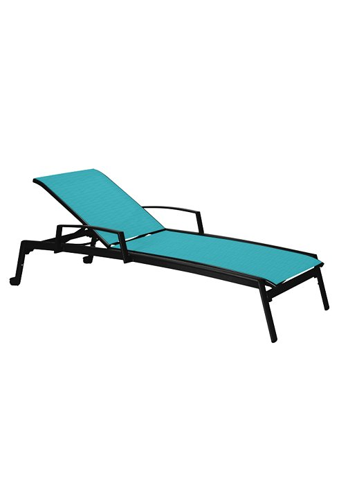 CHAISE LOUNGE WITH ARMS & WHEELS 461433W