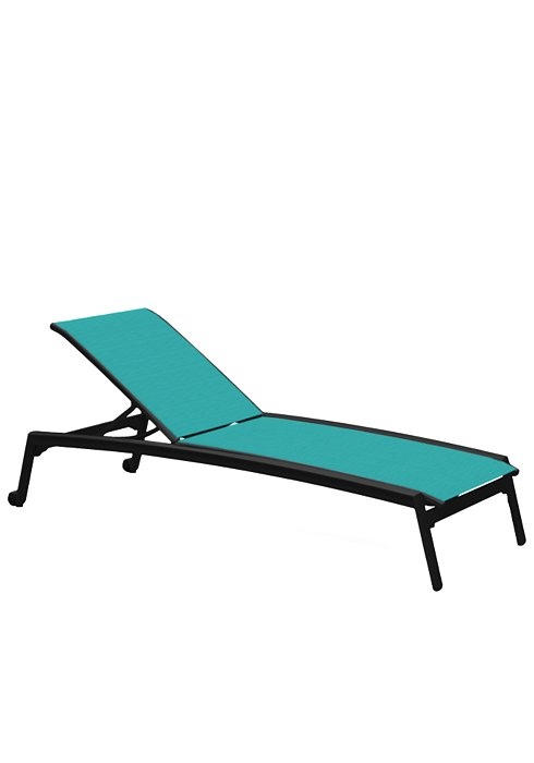 ARMLESS CHAISE LOUNGE W/WHEEL 461132W