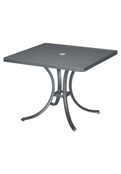 36″ SQAURE PATTERNED ALUMINUM TABLE 1876SBU