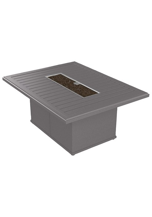 BANCHETTO 54″X42″ RECT FIRE PIT SHOWN IN NICKEL 401767FP-24
